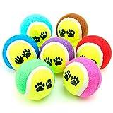 Lot de 3balles de tennis rebondissantes pour animal domestique Pour mâcher, lancer, jeu d'extérieur, entraînement