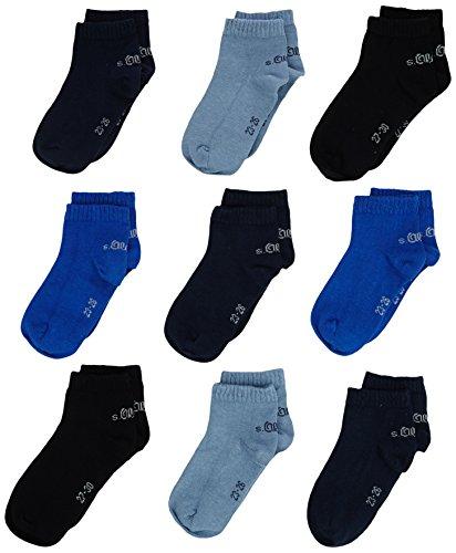 s.Oliver Socks Jungen Sneakersocken S21010, 9er Pack, Blau (blue 30), 39-42 (Herstellergröße: 39/42)
