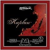 Cuerda individual Mi para violín Kaplan de D'Addario K420B-3 serie Golden Spiral Solo, escala 4/4, tensión media