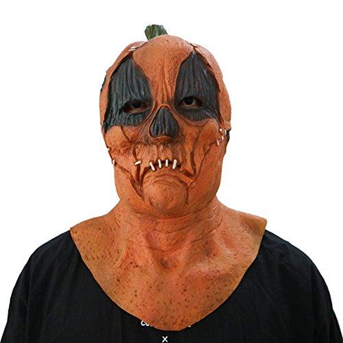 Halloween Maske Kürbis Maske - hibote Latex Terror Maske für Gekleideten Abend / Halloween / Karneval / Masken Party/ (Uk Saw Halloween Kostüme)