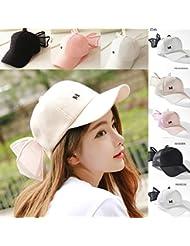 8145d01e858 FERZA home Hat pearl bow baseball cap visor cute super cute parent-child hat  hip