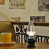 Lámpara YAKii LED, con batería recargable USB e interruptor regulador, aspecto de lámpara de aceite o queroseno