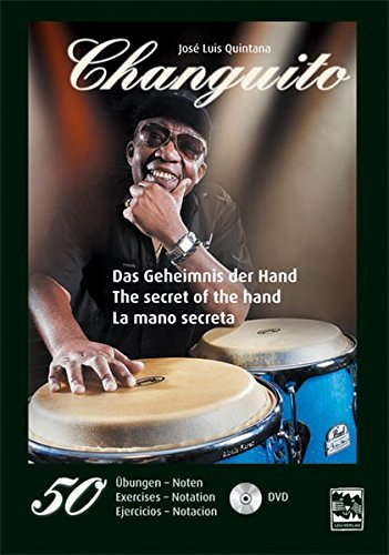 Das Geheimnis der Hand-The secret of the hand-La mano secreta: 50 Percussion-Übungen-exercises-ejercicios, inclusive DVD. ... spielen. For drum students. Con bateristas.