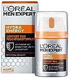 L'Oréal Men Expert Hydra Energy Comfort Max, Nicht-fettende Feuchtigkeitspflege, Sensible und Trockene Männerhaut, 50 ml