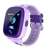 Smart Uhr IP67 Wasserdichte Uhr DF25 Uhr SOS Anruf Wifi Location Device Tracker Kids Sicher Anti-Verlorene Monitor,Purple