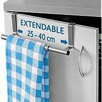 ArtMoon Spread Barra Porta Asciugamani Espandibile in Acciaio Inox 25/40X8X9cm
