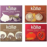 Kallo Organic Vegan Stock Cubes Mixed Case 4 x 66g