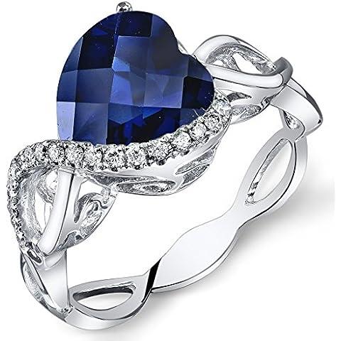 Revoni 14ct Anello Oro Bianco e Diamanti