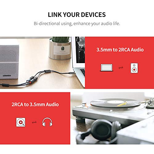 51szVcAqpaL. SS500  - UGREEN RCA 3.5mm Adapter Cable 2 Phono Female to Male Aux Mini Jack Stereo Headphone Audio Lead Compatible With iPhone…