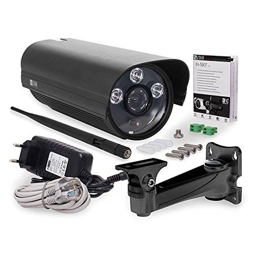 INSTAR IN-5907HD Wlan IP Kamera / HD Sicherheitskamera für Außen / IP Überwachungskamera / IP cam mit LAN & Wlan / Wifi für Outdoor (3 HighPower IR LEDs - 4