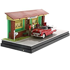 Diorama voiture americaine miniature Chevy Bel Air 1955 1