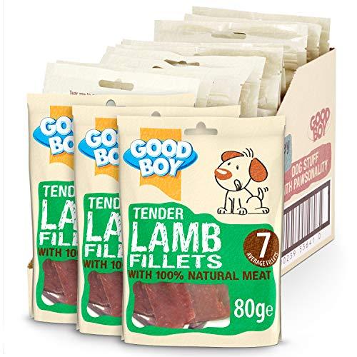 Good Boy Hund behandelt Tender Lamb Filets, Fall von 10x 80g Packungen -