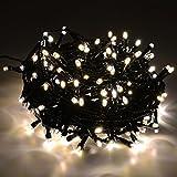 Weihnachten Lichterkette warmweiß energiesparend, 400 LED Länge: 20m, für Innen- und Außenbereich, Weihnachtsbeleuchtung für Garten, Party, Winter, Deko