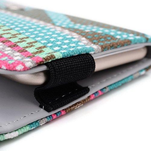 Kroo Téléphone portable Dragonne de transport étui avec porte-cartes pour Blu Life Pure/Studio 5.0II Multicolore - noir Multicolore - vert