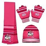 Disney Mädchen Handschuh-Set One size Gr. One size, Rose