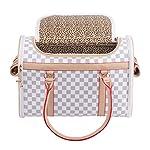 BELLAMORE GIFT Pet Carrier Puppy Chihuahua Cat Dog Yorkie Vet Bunny Tote Travel Bag Purse (Medium) 14