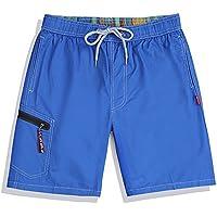 Westtreg Men Summer Clothing Pantalones Cortos de Playa de Secado rápido Striped Swimwears Lovers Boardshorts Couples Surf Board Shorts, Azul Oscuro, XL
