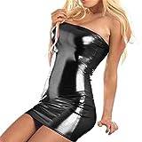 Quistal Clubwear Stripper Dress , Women Sexy Nighties Dress Hot Sleeveless with G-string (One size, Black)
