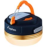 ELEPHAS Ultra Bright LED Outdoor Camping Lantern, Hanging Tent Campsite Light, USB Rechargeable, Built-in Magnets and Portable Flashlight with 3 Modes for Hiking, Mountaineering, Cycling and Emergencies(Warm White)