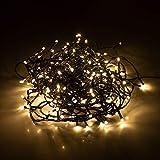 Lichterkette mit 240 LEDs 18m Warmweiß IP44 Weihnachtsbeleuchtung Innen und Außen Garten Deko Gesamtlänge ca. 21m