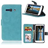 Alcatel One Touch Pop C9 Funda, SATURCASE Retro Frosted Cuero De La PU Magnético Capirotazo...