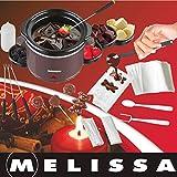 Melissa 16310178 Schokoladen-Fondue-Set, Schokoschmelzer, viel Zubehör, 4 Personen,Keramiktopf,70 Watt,Pralinen,Geschenk, ceramic, braun - 7