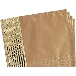 SORRENTO nuevo diseño de la chispa de oro Patchwork mantel Bling estera de tabla juego de 4 piezas Juego 33,02 cm * 18 pulgada