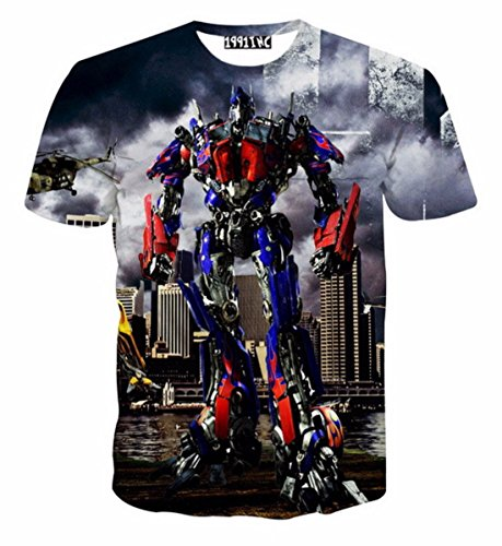 Men's 3D Burst Decepticons Printed Short Sleeved Tee Shirt as picture 14