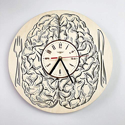 Cerebro Reloj de Pared de Madera