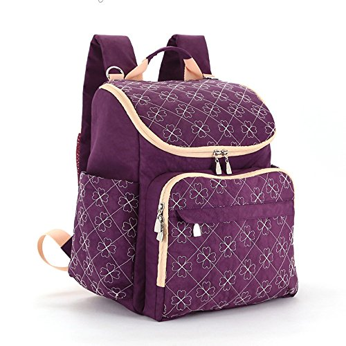 Mimi king pannolino per pannolini borse da viaggio zaino impermeabile in nylon multifunzionale mamma cura del bambino moda grande capacità,g
