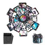 Formemory Hexagonal DIY Überraschung Explosion Box2018 Faltendes Foto Geschenk Box Dekor für Vatertag Geburtstag Jahrestag Valentinsgruß Hochzeit Freund