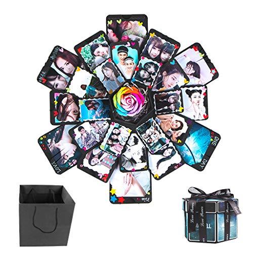 fotoalbum fuer freund Formemory Hexagonal DIY Überraschung Explosion Box2018 Faltendes Foto Geschenk Box Dekor für Vatertag Geburtstag Jahrestag Valentinsgruß Hochzeit Freund