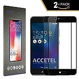 Accetel ASUS Zenfone 3 MAX ZC520TL Protector Cristal Templado Cobertura Completa Máxima 2 x Protector de Pantalla Full Screen Vidrio Templado para ASUS Zenfone 3 MAX ZC520TL 5,2'' Pulgadas-Negro