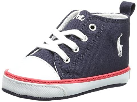 Polo Ralph Lauren Unisex - Baby Harbour Hi Layette Baby Shoes Blue Blau (Navy-red) Size: 19