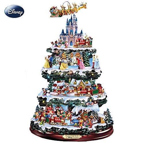 The Bradford Exchange Die Wundervolle Welt von Disney - Weihnachtsbaum mit Micky Maus in seinem Rentierschlitten