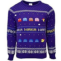Official Pac-Man Christmas Jumper / Ugly Sweater - (UK S/ US XS)