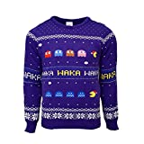 Pac Man Official Christmas Jumper/Ugly Sweater - (UK M/US S)