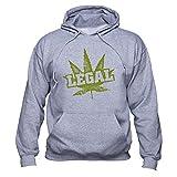 EUGINE DREAM Marijuana Legalization Cannabis Is Legal Unisex Felpa Con Cappuccio grigio S