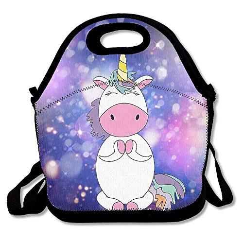 ad80875274 Unicorn Cute Namaste Yoga Portable Lunch Bag Lunch Organizer Tote Bags  Travel Picnic Food Lunch Box