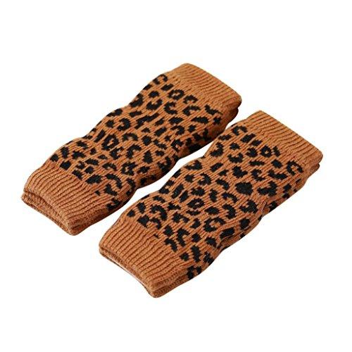 fixuk 4/Set Winter Pet Hund Bein Socken Zebra Leopard Dots Print rutschfeste Bein Warmers (Leopard Bein)