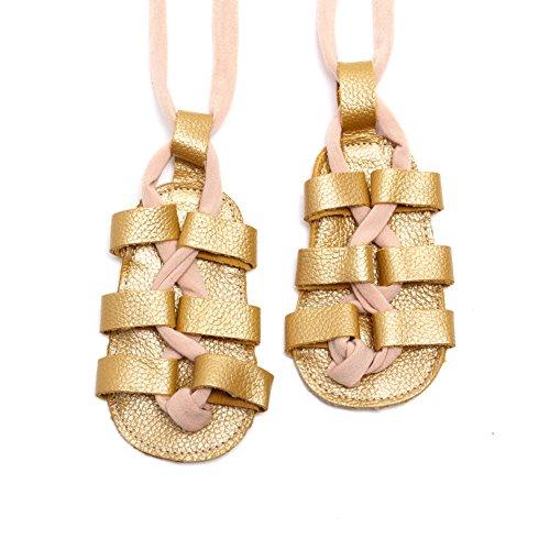 leap frog  Roma Gladiator Sandals, Baby Mädchen Lauflernschuhe Gold