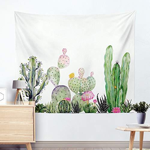 mmzki Mode Europa und Amerika Tapisserie Hängen Wandbehang Dekorative Tapisserie Kaktus Tapisserie Strandtuch Kissen R005-C 130 * 150 cm