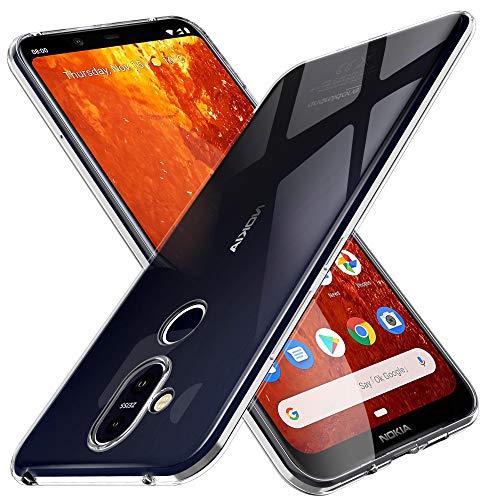 KuGi Nokia 8.1 Hülle, Kratzfeste Hülle Nokia 8.1 Schutzhülle Soft TPU Case Ultradünn Cover [Slim-Fit] [Anti-Scratch] [Shock Absorption] passt für Nokia 8.1 Smartphone. Klar