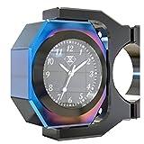 YOUANDMI 22-28Mm Nottilucenti Orologio Moto Con Termometro (0.3Kg),Black