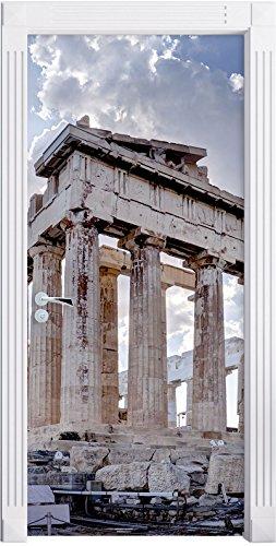 Colonne antiche Grecia Murale, Formato: 200x90cm, telaio della porta, adesivi porta, porta decorazione, autoadesivi del (Colonne Lisce)