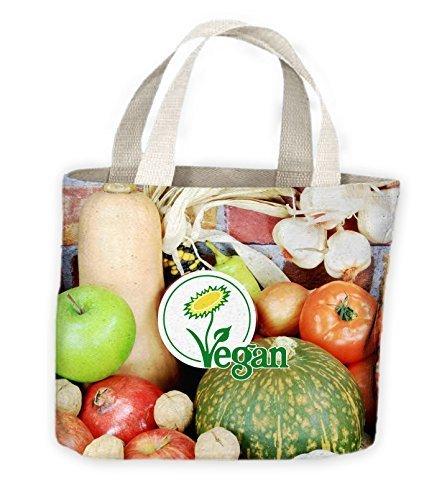 Vegano Logo Tote Bolso De Compras Para Toda La Vida
