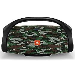 JBL Boombox - Wasserdichter Bluetooth-Lautsprecher mit integrierter Powerbank - Bis zu 24 Stunden Musikgenuss mit nur einer Akku-Ladung - Kabelloses Musikstreaming Camouflage