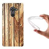 WoowCase Vodafone Smart Platinum 7 Hülle, Handyhülle Silikon für [ Vodafone Smart Platinum 7 ] Naturales Holz Handytasche Handy Cover Case Schutzhülle Flexible TPU - Transparent