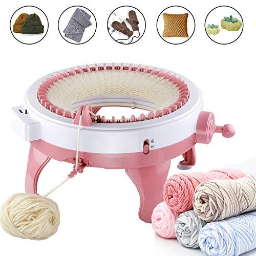MIAOKE Strickmaschine, Smart Weaver Knitting Round Loom, Strickbrett rotierenden Doppelwebstuhl, Nadeln Strickmaschine Webstuhl Kit für Erwachsene und Kinder