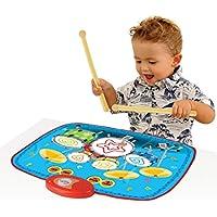CT-Tribe Mini Kinder Drum Set Muster Musikalischen Touch Play Mat Baby Bildungs Musik Teppich Kind Spielzeug Geschenk mit 2 Drumsticks